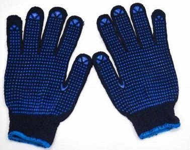 BLUE DOTTED GLOVES in Duplast Building Materials dubai